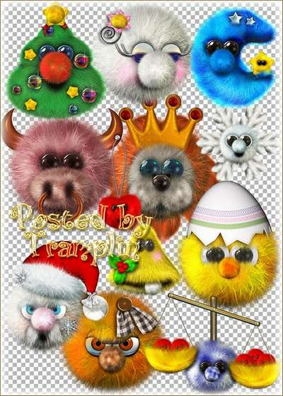 Clipart Fluffy toys download
