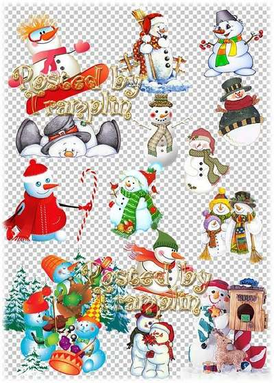 New Years ClipArt - Childrens laughter to our jolly snowman used