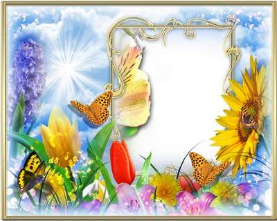 Frames for photoshop - Warm holiday of spring