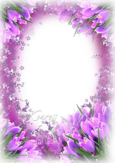 Greeting frame for Photoshop - The spring dream