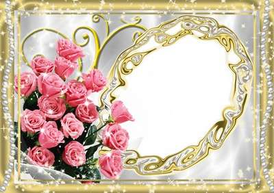 Female flower frame for the holiday of spring
