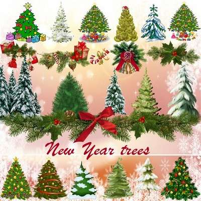 Cliparts New Year trees png