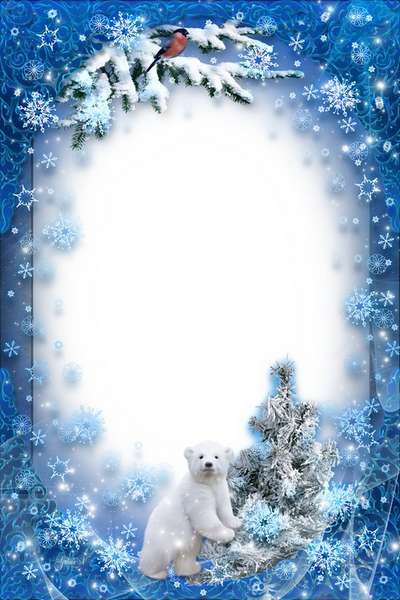 New Year Frame - Snowy Winter