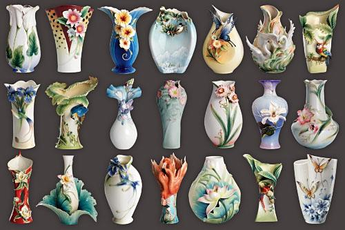 Clipart png for Photoshop - Decorative vases free download
