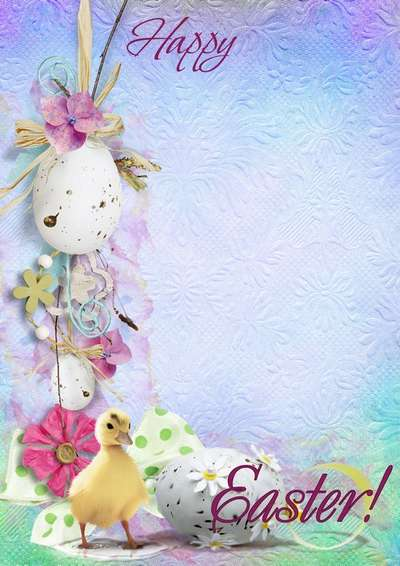 Easter frame card free download - What a lovely bright holiday