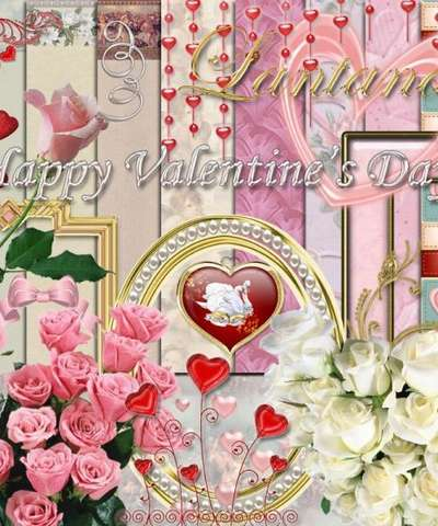 Scrap Happy Valentine's Day! PNG images