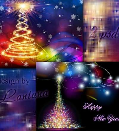 Free Layered PSD background - Magical Christmas holiday 34 - Free Download