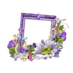 Frame cutouts for Photoshop - flowers