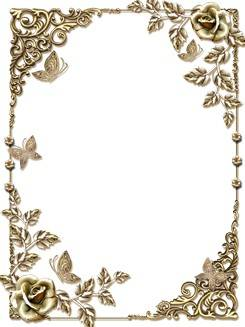 Cutouts for frames - Gold drops in September will bring to the glittering frame