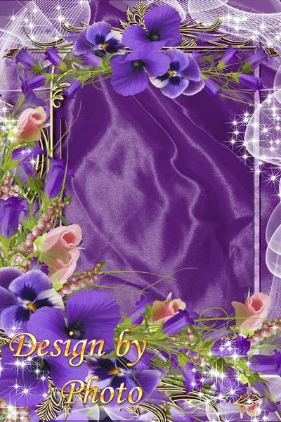 Flower frame - Bells and Pansy