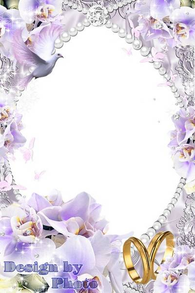 Wedding frame - Delicate purple orchids