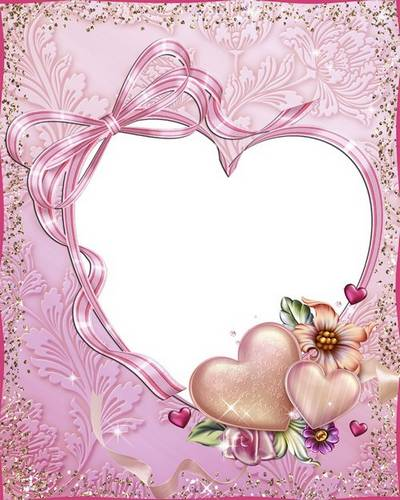 Wedding Frame - Lovers of the heart together forever