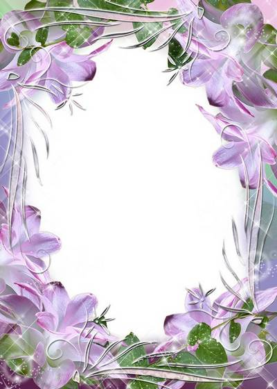 Flower Picture Frame - Lilac tenderness