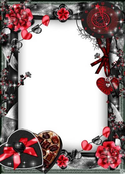 Romantic 3 png + psd frame - Passionate love