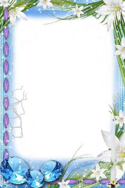 Women photo frames - With lilies and precious stones