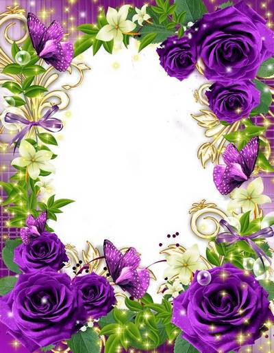 Flower frame- Purple Rose, a mysterious color