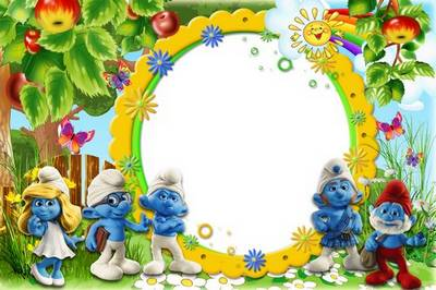 Baby photo frame - Smurfiki