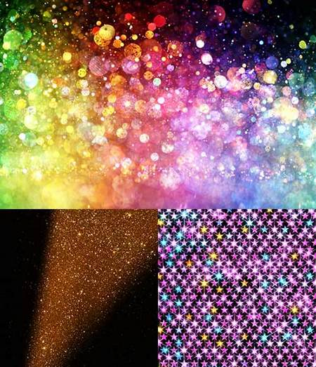 Glitter Lights Backgrounds - 15 UHQ JPG - Up to 7616x5077 px