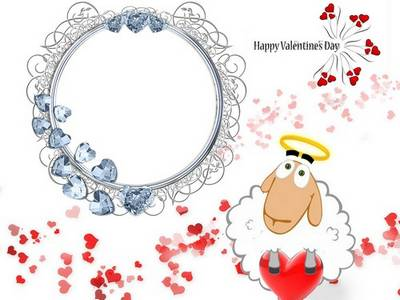 Frame for a photoshop - the St. Valentine's Day