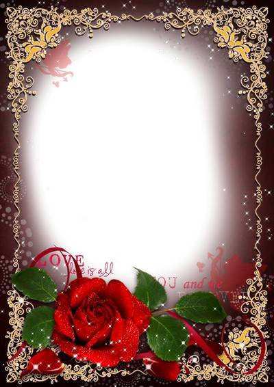 Romantic frame for Valentines Day - Love story