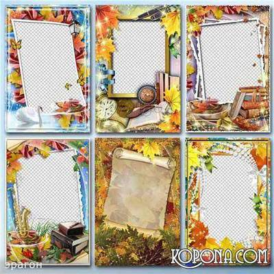 Collection of frames for Photoshop - Autumn time