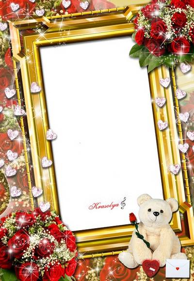 Romantic PSD Frames for Photos - Angel and love story