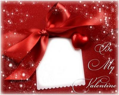 Download photoshop frame for Valentine's day in psd format - Be my valentine