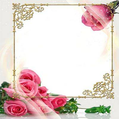 Free PSD Frame with red Roses