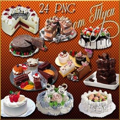 Clipart - Graphics - Cakes - veil of sweet delights - 24 PNG
