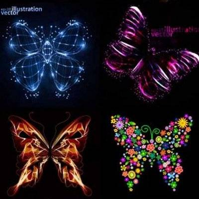 Beautiful vector butterflies 40 AI, EPS