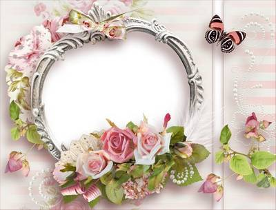 Vintage Frame for Photoshop - Luxury roses