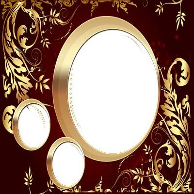 Photo frame png + frame psd - Luxury gold