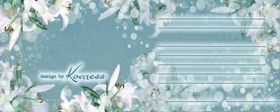Photoshop wedding invitation template with white lilies (can insert photo) - English, Russian lang (choice)