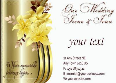 Multilayer PSD source for the newlyweds -Wedding Invitation