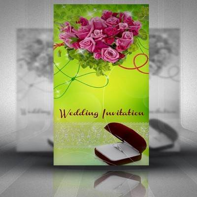 PSD Wedding invitation - This moment 5