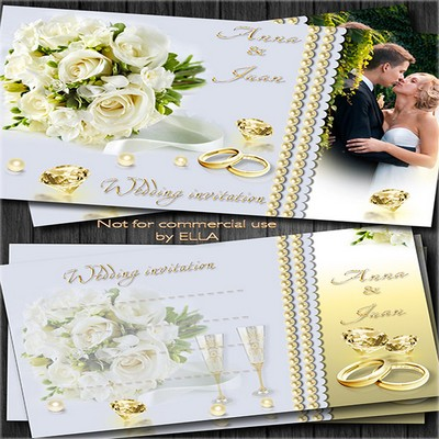 Silver and gold wedding invitation-This is our day!