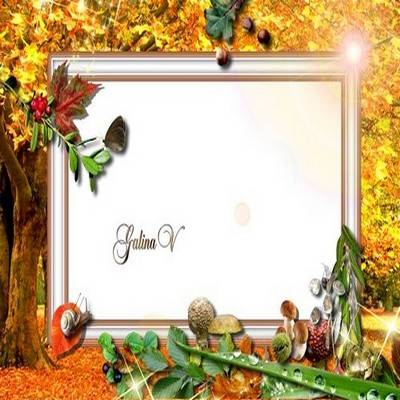 Frame for Photo - Gold Autumn Wood