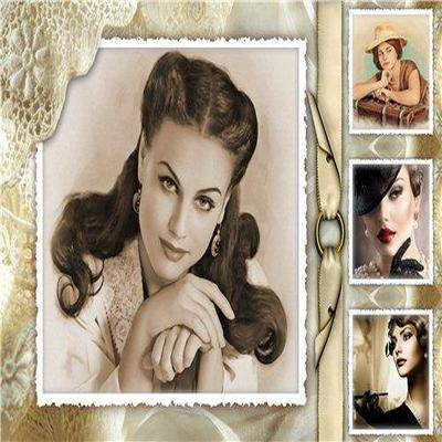 Retro frame Photoshop Collage psd file - photo frame psd in retro style