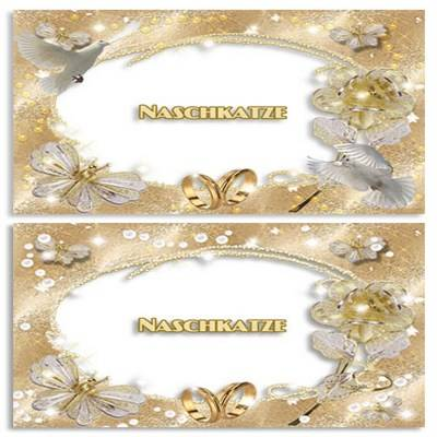 Wedding Frames 2 png for Photoshop - Wedding Gold