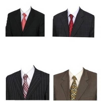 Large Collection of Men's suits psd format for photographers and photo-montage in Photoshop, mens suits with tie