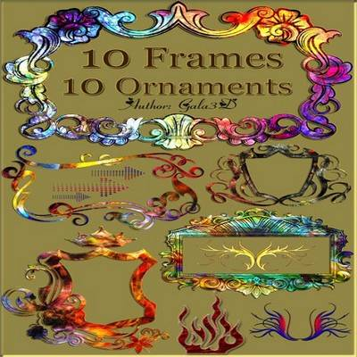 10 Ornate frames и 10 ornaments free download