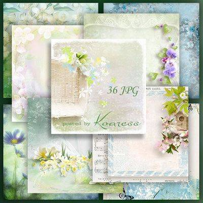 Download Free Set of spring backgrounds jpg with flowers