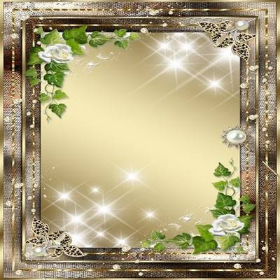 2 golden frames for Photoshop - an Evening brilliant tender-tender asterisk peers into window
