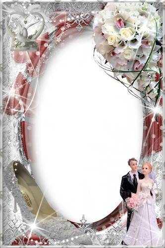 Collection of wedding frames for Photoshop - Our Wedding