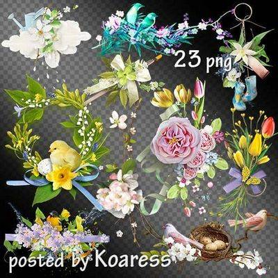 Clipart Png Images spring flowers (clusters) transparent background - 23 PNG Files