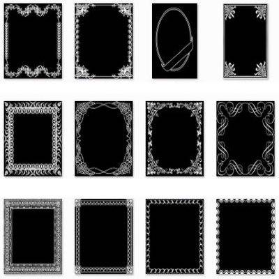 Set masks - photo frames PNG for design in Adobe Photoshop - 109 PNG frames masks