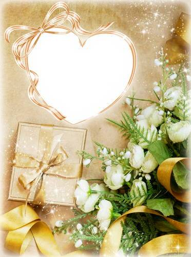 Set the framework for the photo - Petals of white roses with the fragrance of love