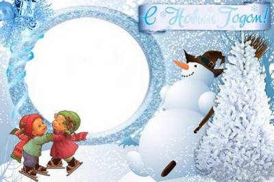 Collection of winter and Christmas frames for kids - Hello, winter
