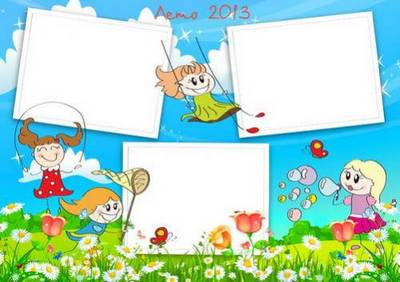 Set of two summer children frames and timetable - How I spent my summer holidays