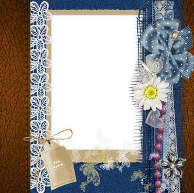 Denim party - set of frameworks for the girls in vintage style